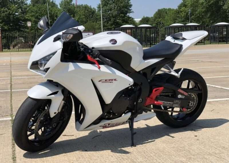2008 - 2011 Honda CBR1000RR white red decal
