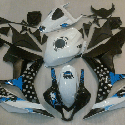 2007 - 2008 CBR600RR White and Ocean Blue