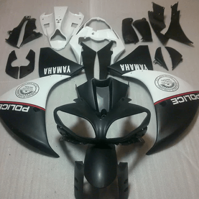 2009 - 2014 Yamaha R1 Matt Black and White