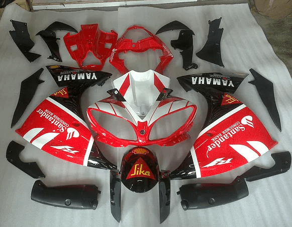 2009 - 2014 Yamaha R1 Red White and Black Graphic