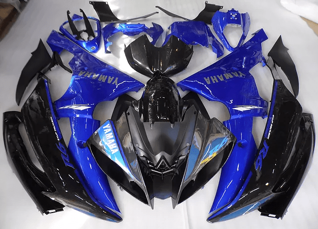 2008 - 2016 Yamaha R6 Silver Blue and Black | AuMotorFairing