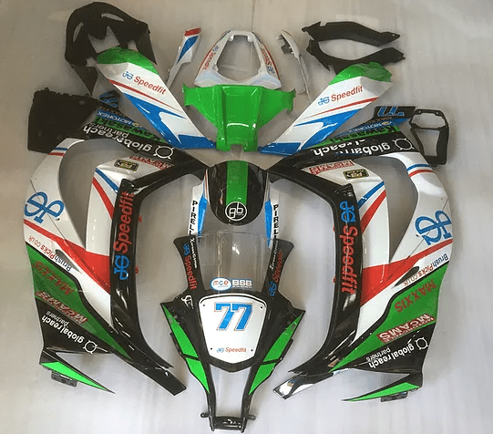 2011 - 2015 ZX10R Green Black Red White sticker