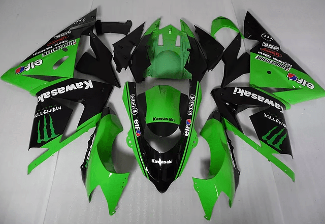 2011 - 2015 ZX10R Green Black White