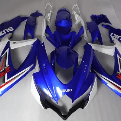 2008 - 2010 k8 SUZUKI GSXR600 Dark Blue White