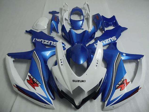 2008 - 2010 k8 SUZUKI GSXR600 White Ocean Blue