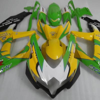 2008 - 2010 k8 SUZUKI GSXR600 Yellow Green