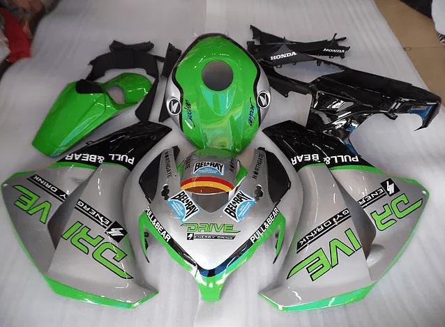 2008-2011 CBR1000rr Flore Green Black Gloss