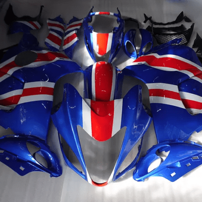 2008 SUZUKI Hayabusa gsxr1300 Blue Red White Stripe