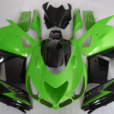 2007 kawasaki ZX-14r Green Black