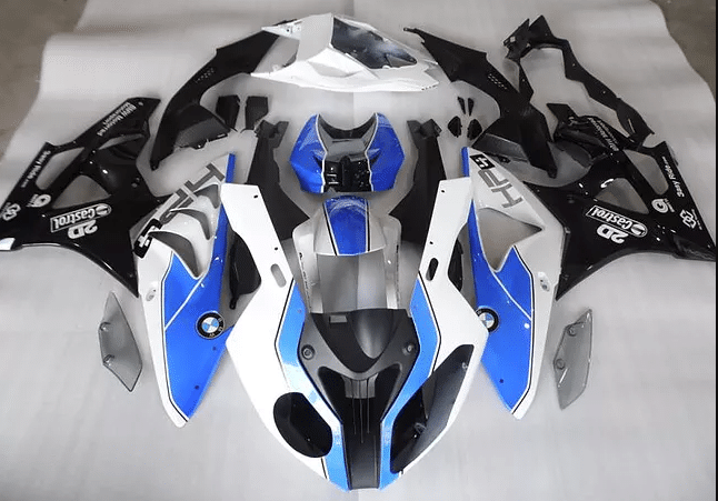 2012 - 2014 BMW S1000RR Ocean Blue White Black