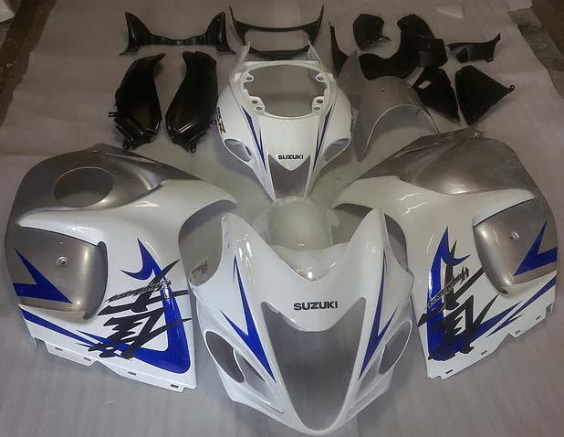 2008 SUZUKI Hayabusa gsxr1300 White Blue