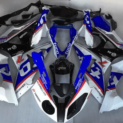 2012 - 2014 BMW S1000RR Racy Blue White Sticker