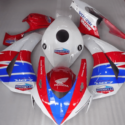 2008-2011 CBR1000rr HRC Tri Color White Blue Red