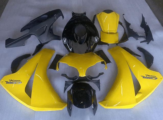 2008-2011 CBR1000rr Yellow Black Gloss