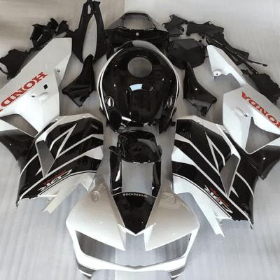 2013 - 2015 CBR600RR Black White Gloss