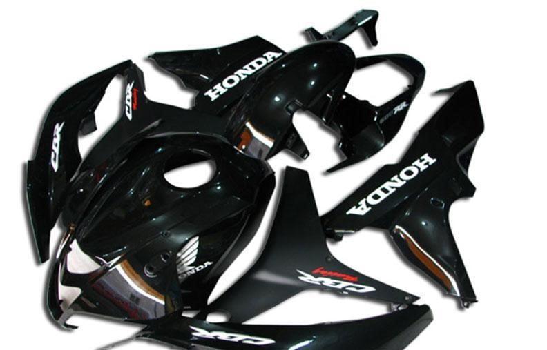 2007-2008 cbr600 black white gloss