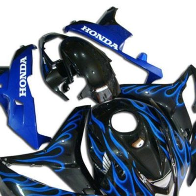 2007-2008 cbr600 black blue flame