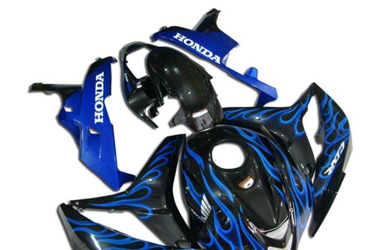 2007-2008 cbr600 black blue flame