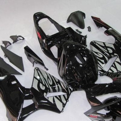 2003-2004 cbr600 black white flame