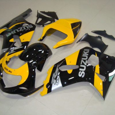 GSX R750 600 2001 2003 BLACK AND YELLOW