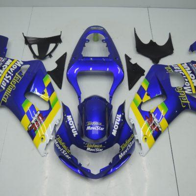 GSX R750 600 2001 2003 BLUE MOVISTAR