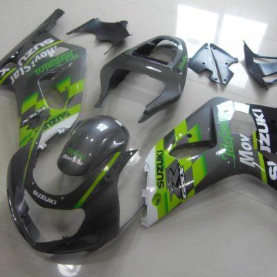 GSX R750 600 2001 2003 GREEN GREY