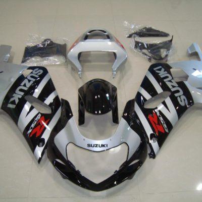 GSX R750 600 2001 2003 SILVER AND BLACK