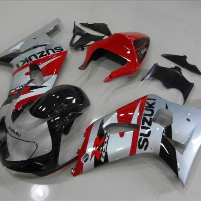 GSX R750 600 2001 2003 SILVER AND RED