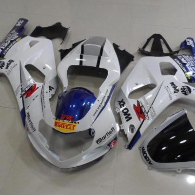 GSX R750 600 2001 2003 WHITE WORX