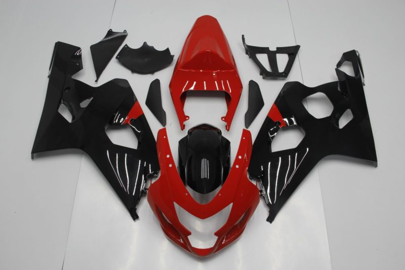 GSX R750 600 2004 2005 BLACK AND RED