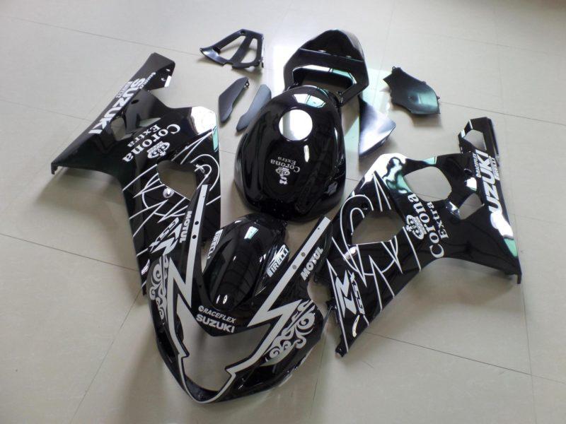 GSX R750 600 2004 2005 BLACK CORONA B