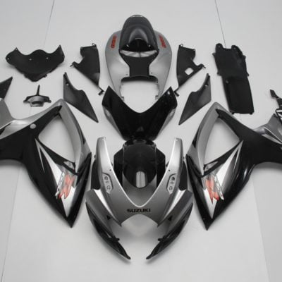 GSX R750 600 2006 2007 BLACK AND SILVER