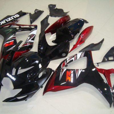 GSX R750 600 2006 2007 BLACK RED 2