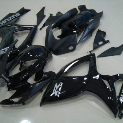 GSX R750 600 2006 2007 GLOSS BLACK AND MATT BLACK 2