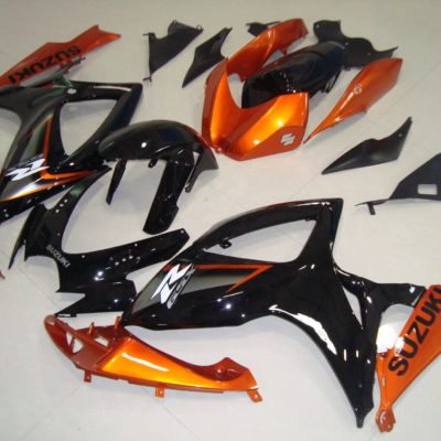 GSX R750 600 2006 2007 GLOSS BLACK ORANGE