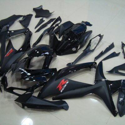 GSX R750 600 2008 2010 ALL BLACK 4