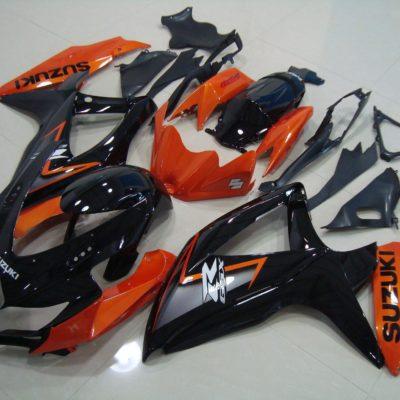 GSX R750 600 2008 2010 BLACK ORANGE