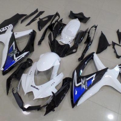 GSX R750 600 2008 2010 BLACK WHITE BLUE