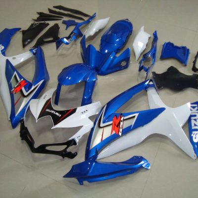 GSX R750 600 2008 2010 BLUE WHITE 2