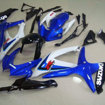 GSX R750 600 2008 2010 BLUE WHITE BLACK