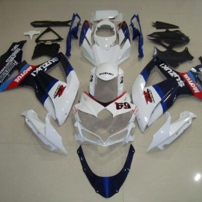 GSX R750 600 2008 2010 DARK BLUE AND WHITE