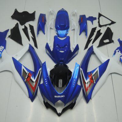 GSX R750 600 2008 2010 LIGHT BLUE WHITE