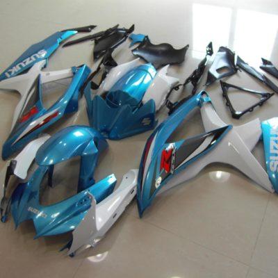 GSX R750 600 2008 2010 MATTALIC BLUE WHITE