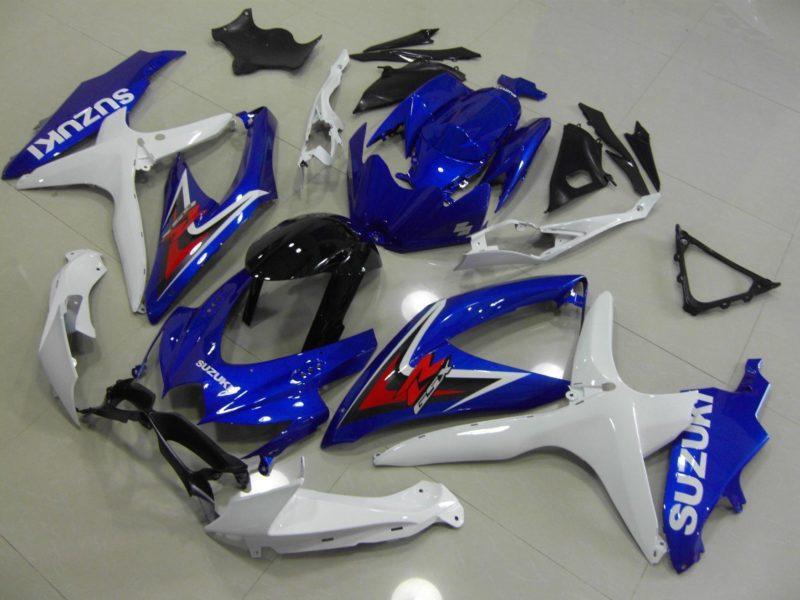 GSX R750 600 2008 2010 OEM BLUE WHITE