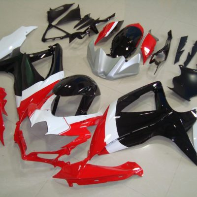 GSX R750 600 2008 2010 RED BLACK WHITE
