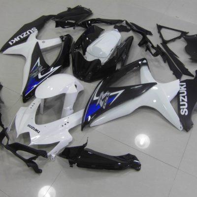GSX R750 600 2008 2010 WHITE BLACK