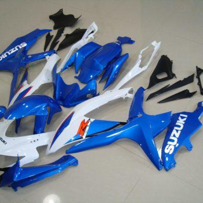 GSX R750 600 2008 2010 WHITE BLUE