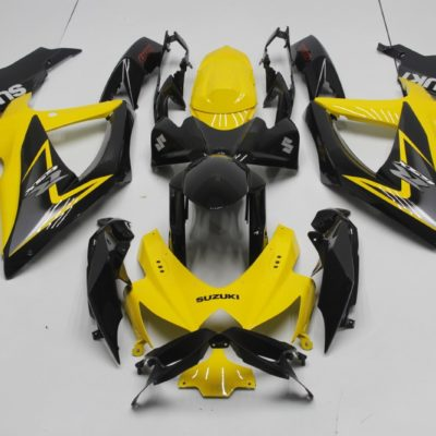 GSX R750 600 2008 2010 YELLOW AND BLACK