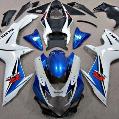 GSX R750 600 2011 2016 WHITE AND BLUE
