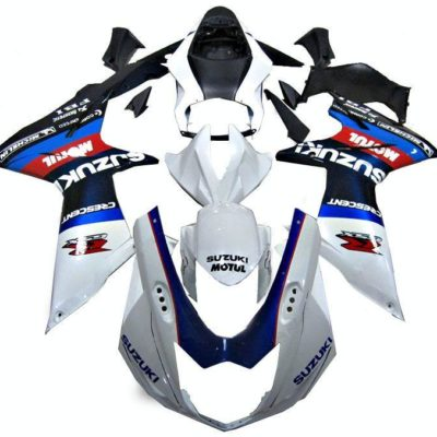 GSX R750 600 2011 2016 WHITE AND BLUE 2
